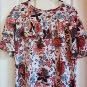 Floral Pasley Print Blouse